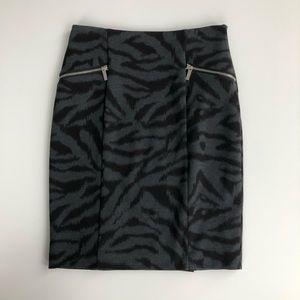 Michael KORS Zebra Print Ponte Skirt - Size 4